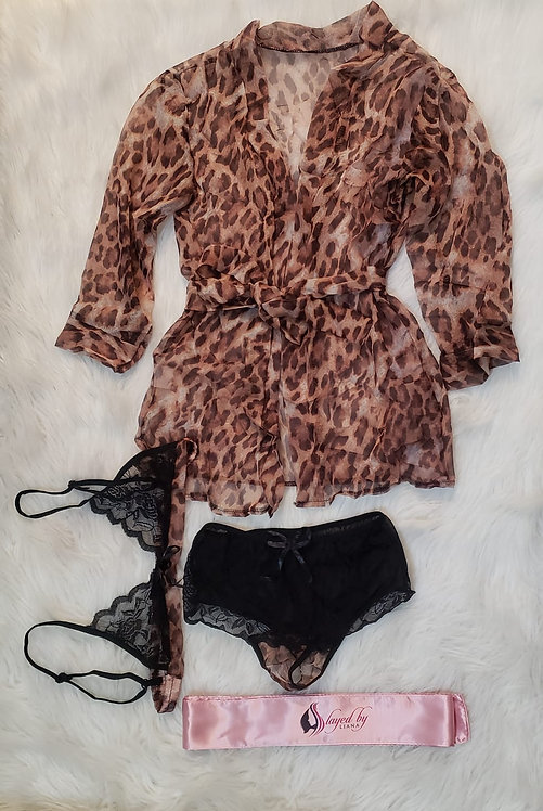 Sleeping Set (Claire Classic Short Robe & Underwear)