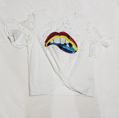Fashion Pearl T-shirt/White