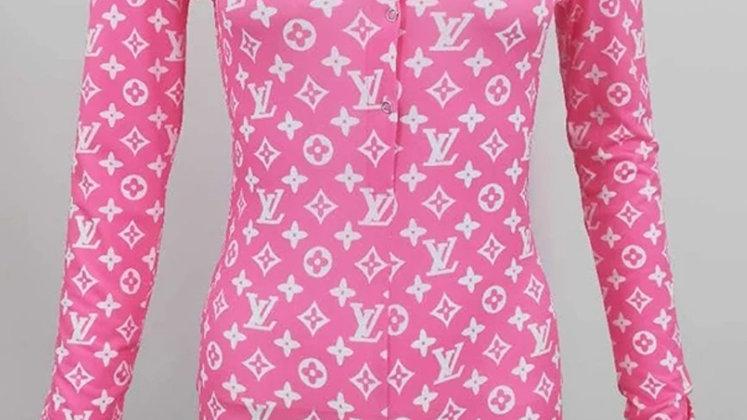 Onesie romper LV pink