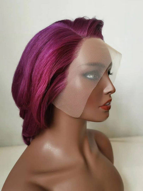 Purple frontal lace wig