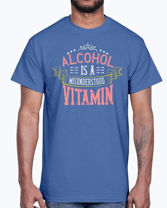Alcohol Is a Misunderstood Vitamin -Drinking - Cotton Tee