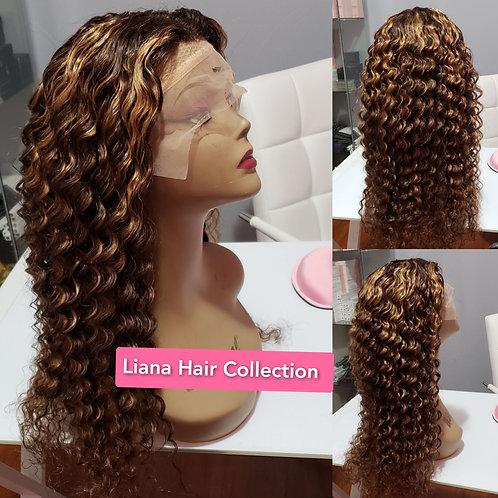 """T-Lace wig 22"""" Color 4/30"""