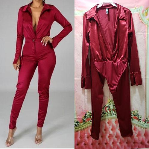 Two piece Bodysuit pants set