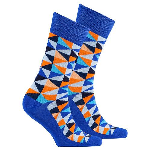 Men's Blue Triangle Socks