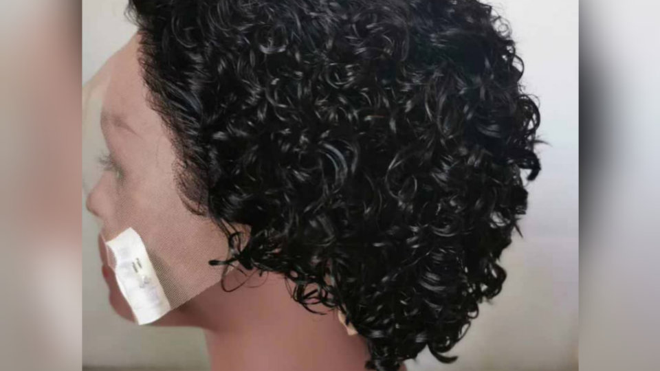 Short Curly Lace Frontal Wig