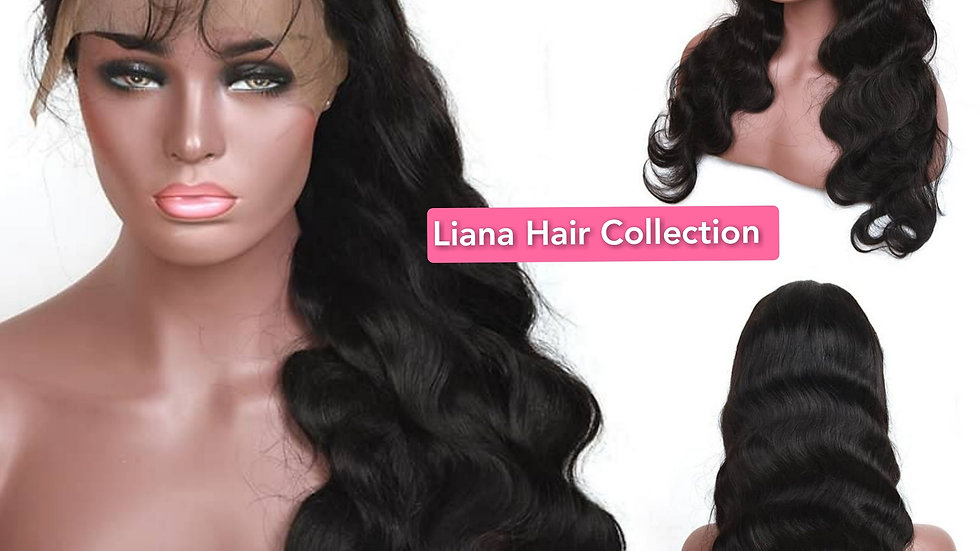 """Natural Body Wave Lace Frontal Wig 18"""""""
