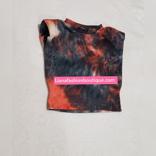 Sleeveless Tie Dye Shirt