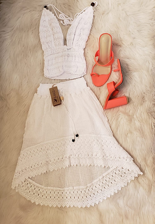 Two Piece Sets (Sleeveless Top & Skirt)