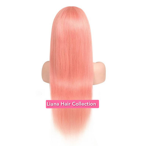 """Baby pink Lace Frontal Wig 16"""""""