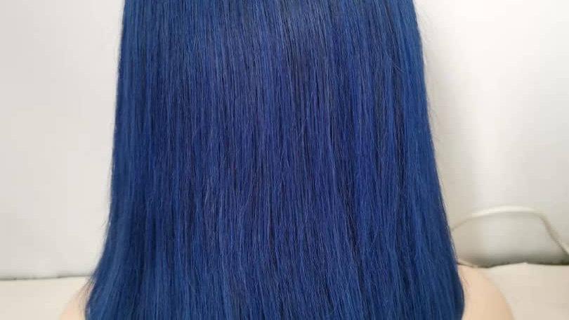 Bob Frontal lace wig/Blue