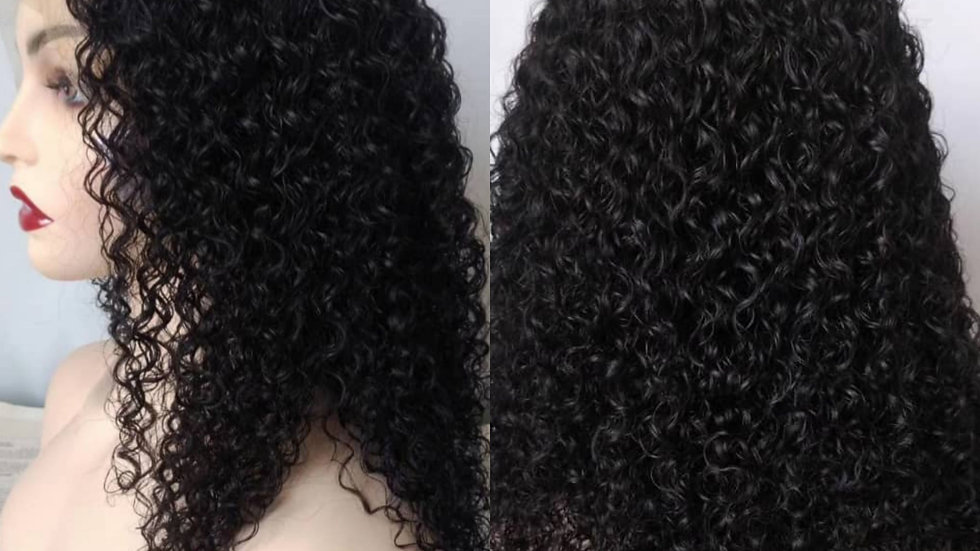 Full lace wig, Natural curl 16""