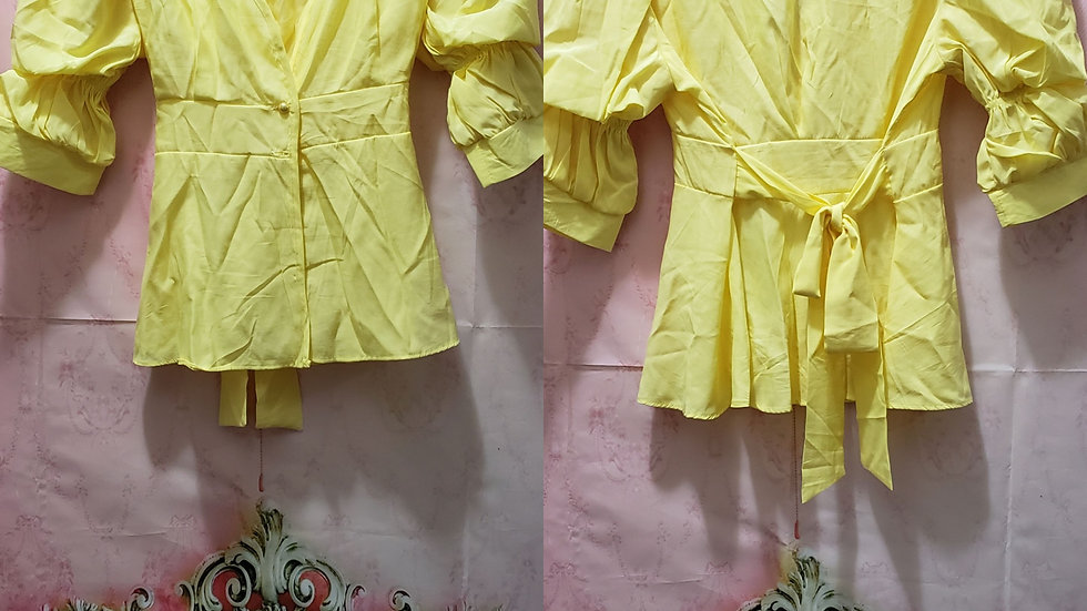 Yellow Fashion blouse