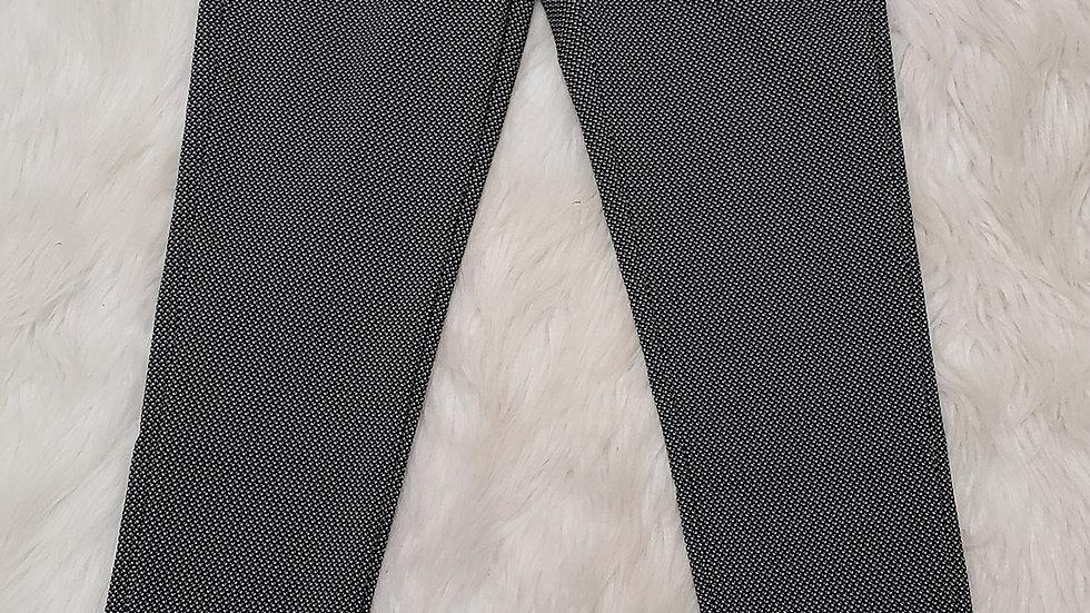 Black/white pencil pants