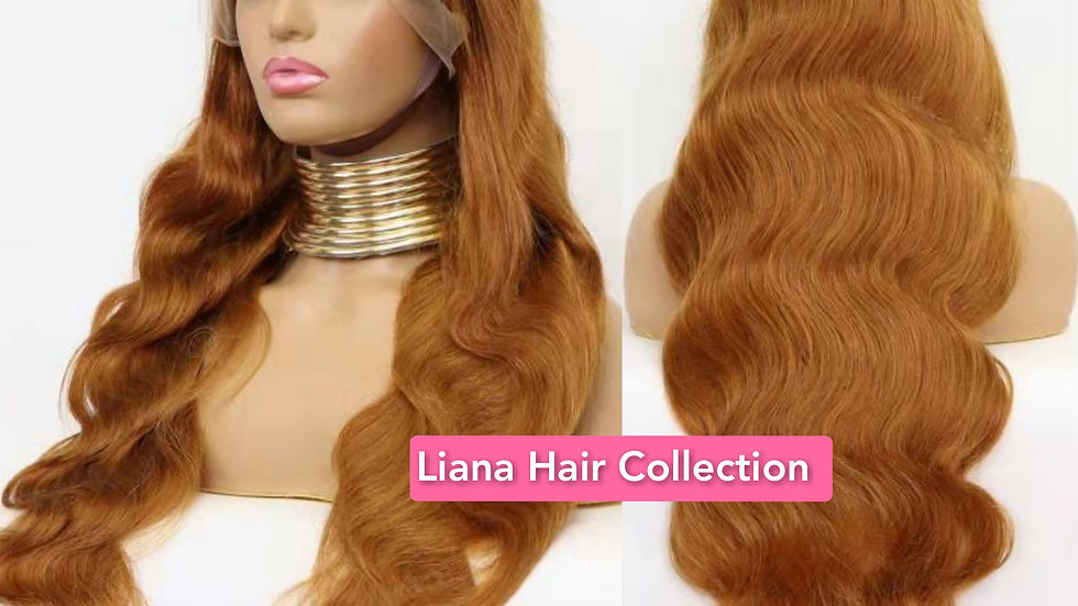 """Ginger Body Wave Lace Frontal Wig 18"""""""