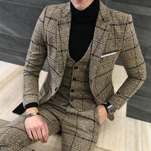 2 Piece Suits Men British Latest Coat Pant Designs Tuxedos