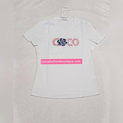 Tee shirt Coco/white