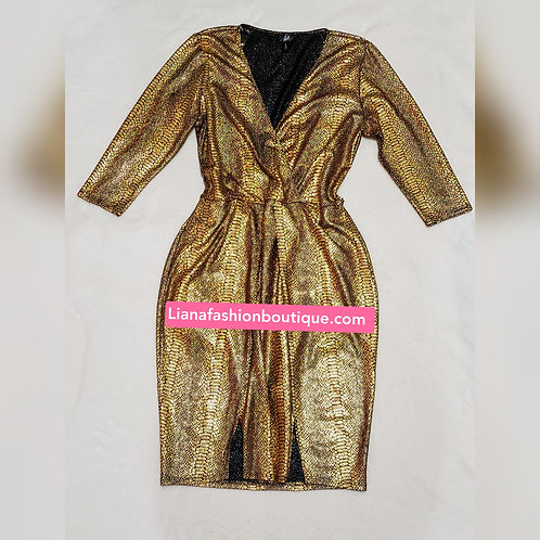 Bodycon Gold Dress