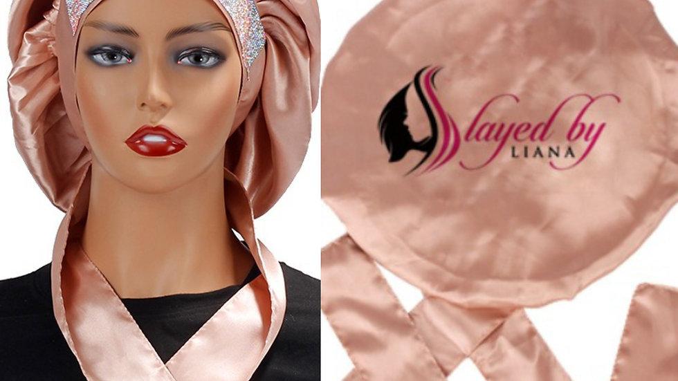 Fashionable Jumbo Glitter Bonnet /rose gold
