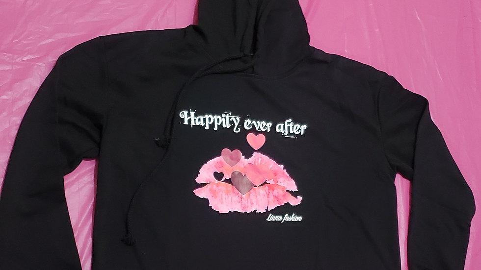 Crop Hoodie Happily Ever After/Black