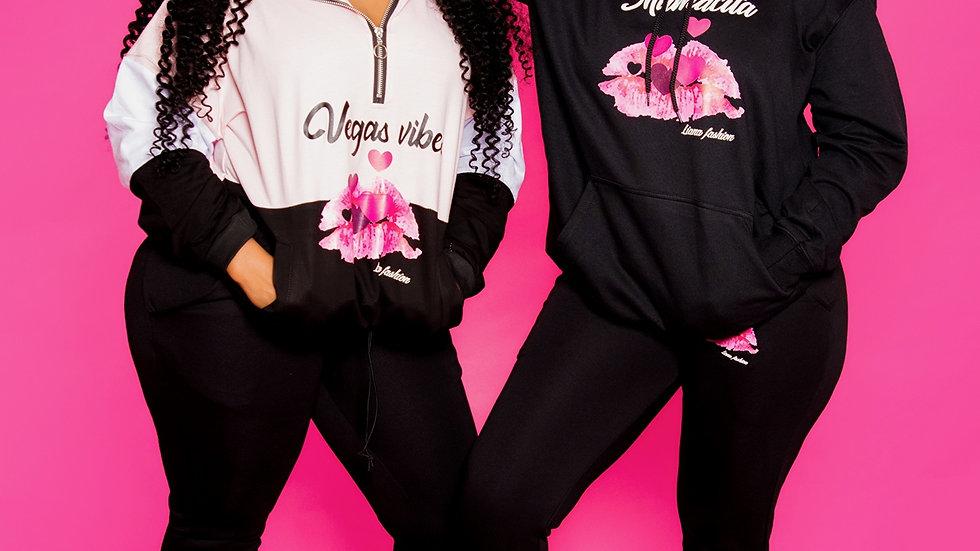 Liana Fashion.Graphic Sweater/Vegas Vibes set
