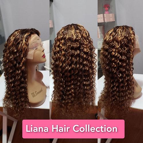 """T-Lace wig 24"""" Color 4/30"""
