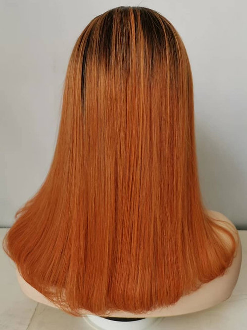 "Bob Frontal Wig 14""/Orange"
