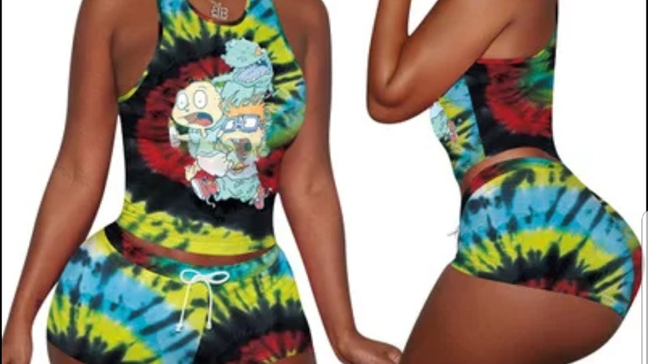 Two piece set shorts Tie_dye
