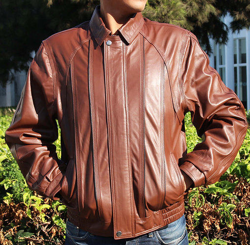 Theo - Leather  Jacket  for Men - Leather Genuine