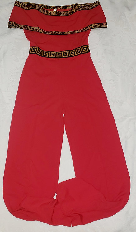 Classic Jumpsuit Off Shoulder/Red