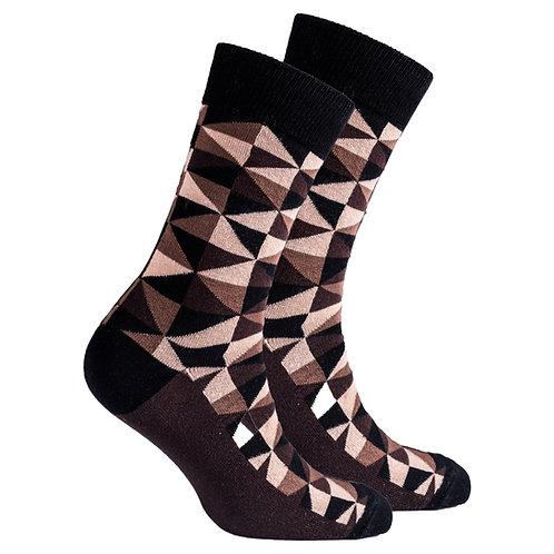 Men's Mocha Triangles Socks