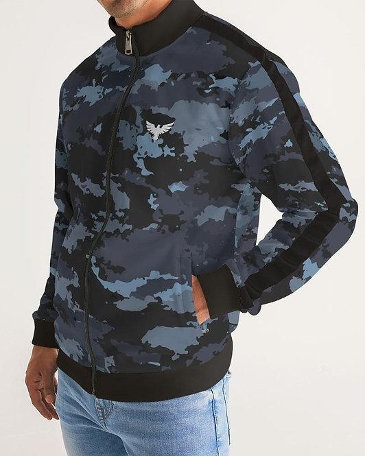 Men's Coast Camo Track Jacket W/Striped-Sleeve