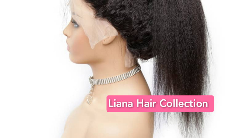"Natural Kinky Hair Lace Frontal Wig 18"""