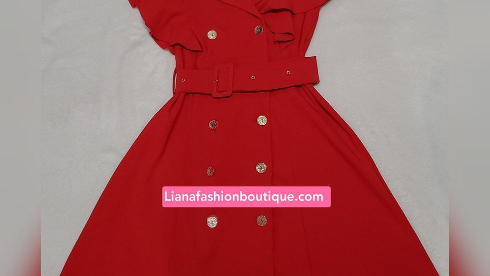Classic Dress/Red