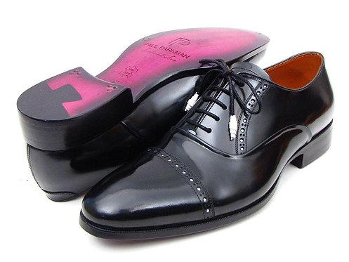 Paul Parkman Men's Captoe Oxfords Black Dress Shoes (ID#78RG61)