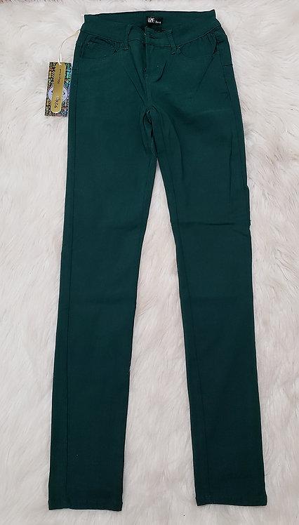 Green pencil pants