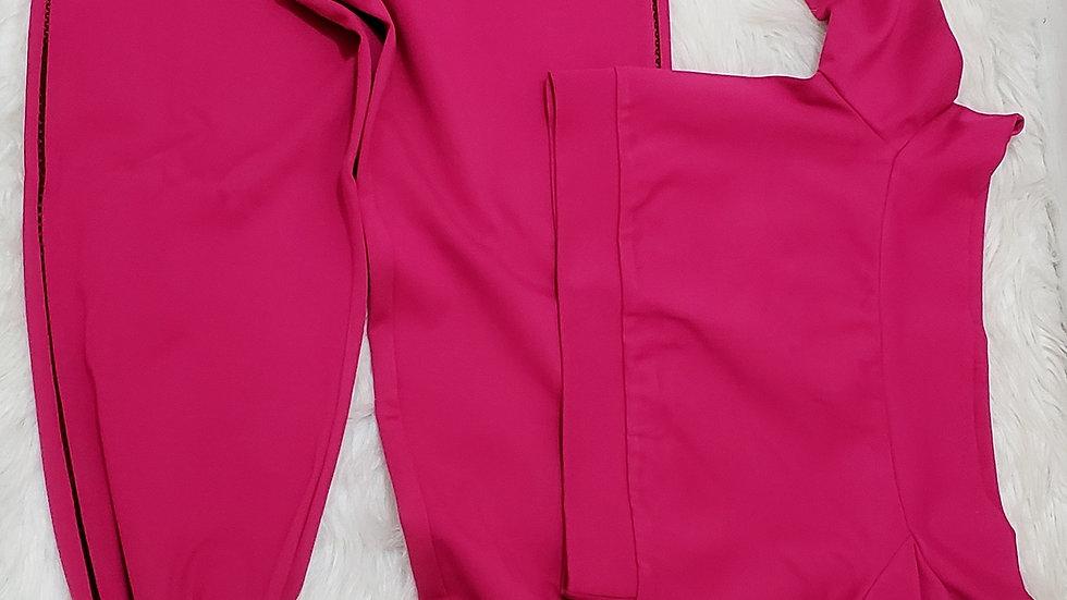 Magenta pants set