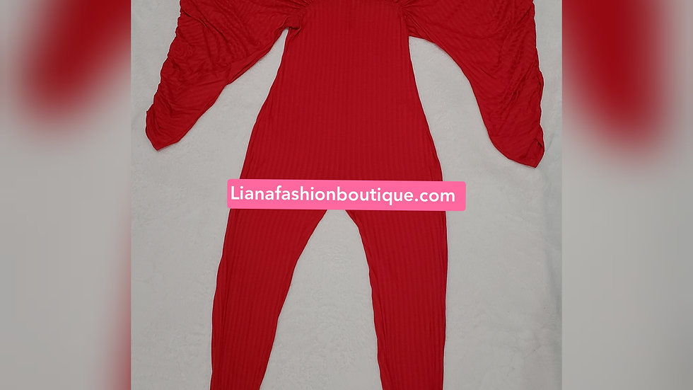 Very Stylish Jumpsuit/Red