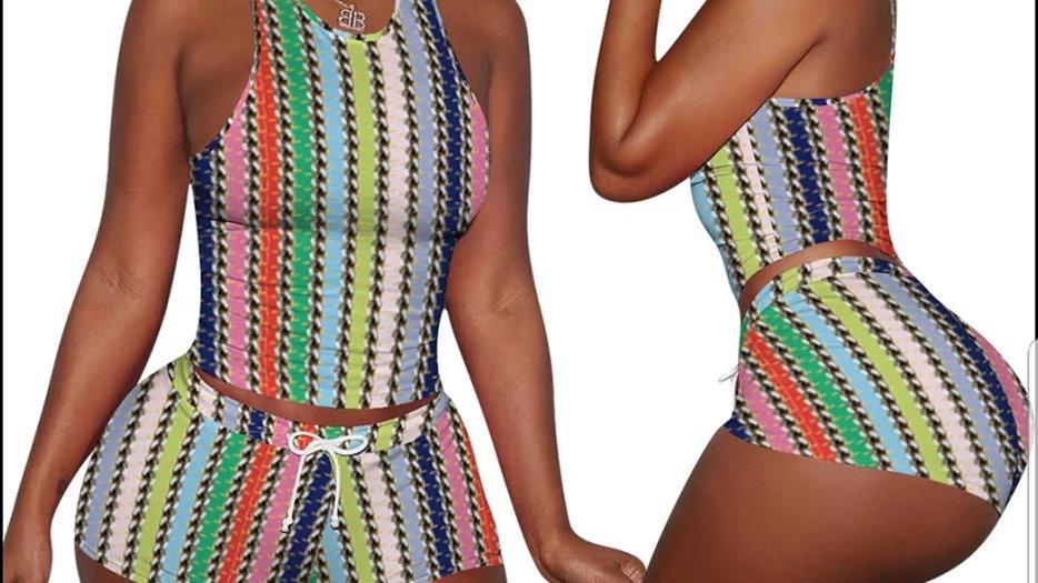 Two piece set shorts Tie_dye