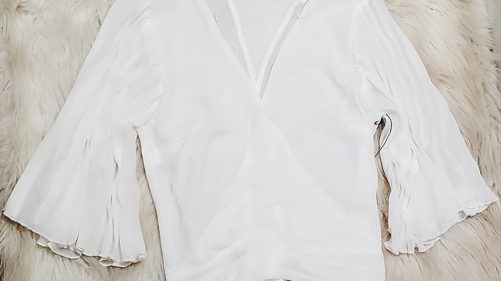 White fashion blouse