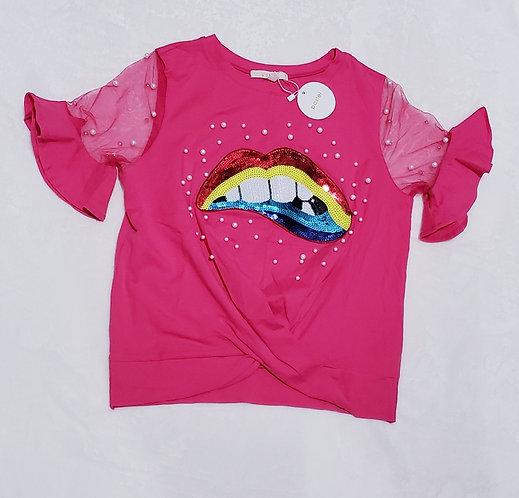 Fashion Pearl T-shirt/Hot Pink