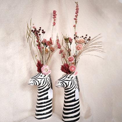 Bloemenvaas 'Zebra' + Boeket