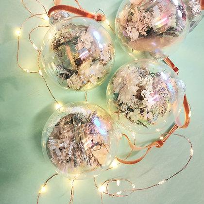 Glazen kerstbal - Set van 4 stuks