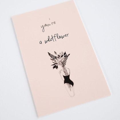 Boeketkaartje 'You're a wildflower'