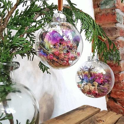 Glazen kerstbal - Set van 2 stuks