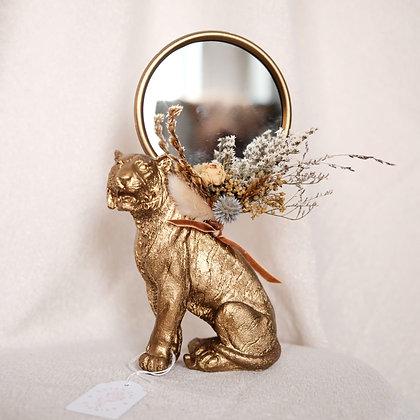 Spiegel met droogbloemen 'Tiger'