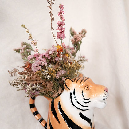 Bloemenvaas/Gieter 'Tiger' + Boeket