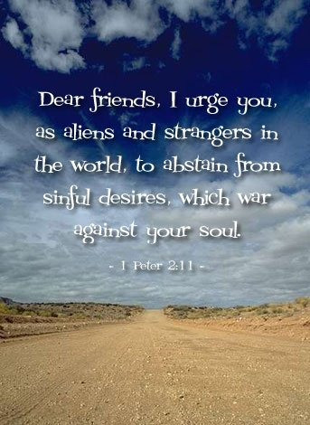 Daily Bible Verse About Abstaining From Sinful Desires - Bible Time - Bible Verses