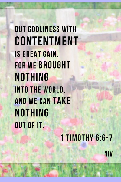 Daily Bible Verse About Finding Contentment - Bible Time - Bible Verses