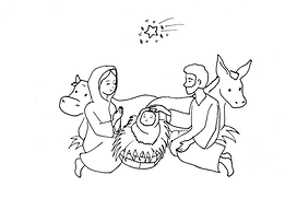 Jesus is Born Coloring Page .png