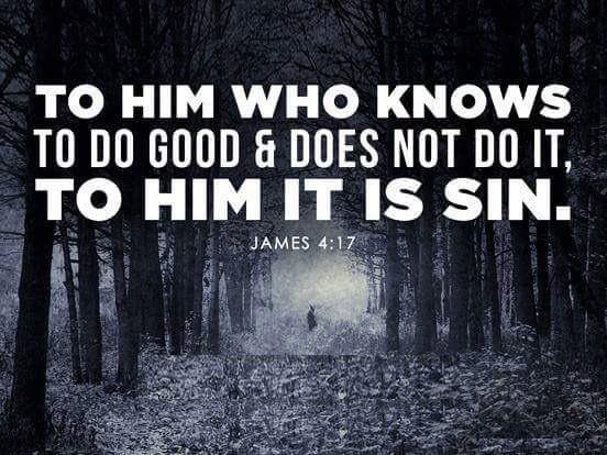 Daily Bible Verse About Failing To Do Good - Bible Time - Bible Verses
